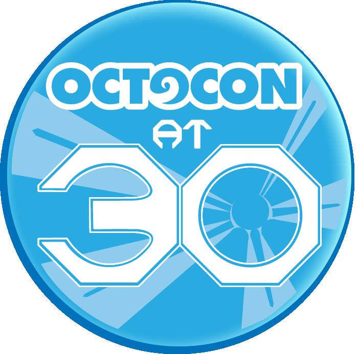 Octocon at 30 logo