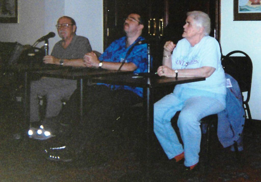 2001 - Harry Harrison, Ian McDonald and GOH Anne McCaffrey