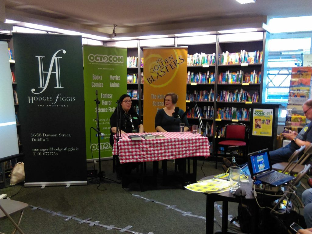 2018 - Chair Janet O'Sullivan and CE Murphy at Concise at Hodges Figgis