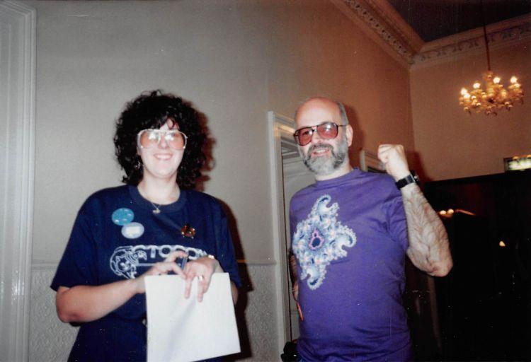 1990 - chair Helen Ryder and GOH Terry Pratchett